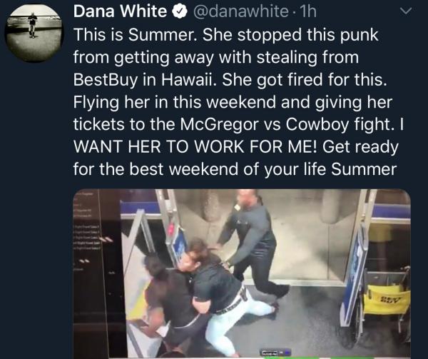 Dana White Tweet