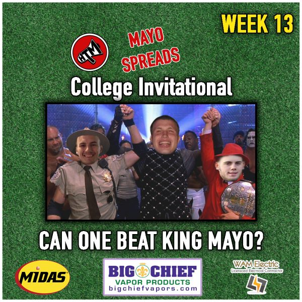 Mayo Spreads College Football Week 13